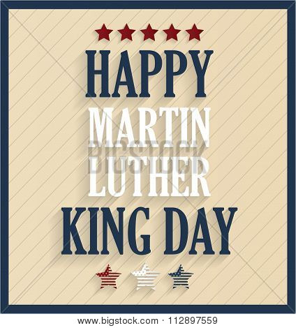 Martin Luther King day retro poster