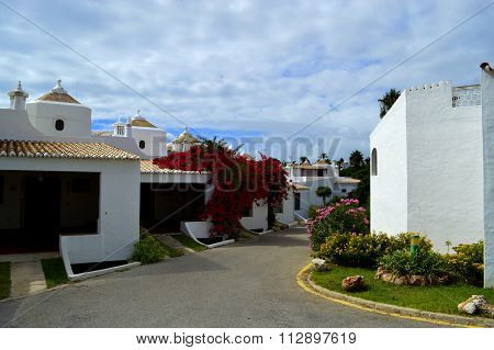 Houses in the village of Armacao De Pera in Portugal