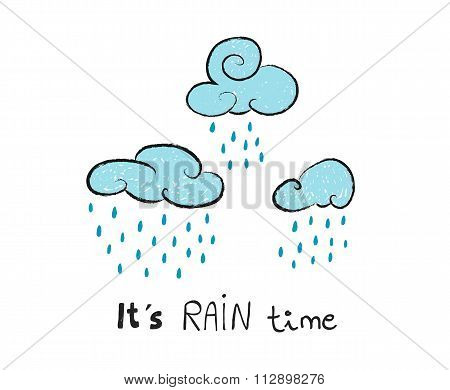 It's Rain Time, Vector Illustration