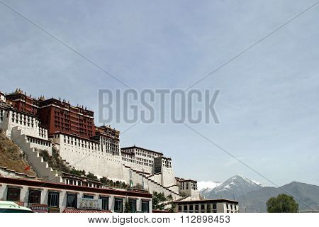 Potala palace in Tibet People's Republic of China