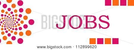 Jobs Pink Orange Dots Horizontal