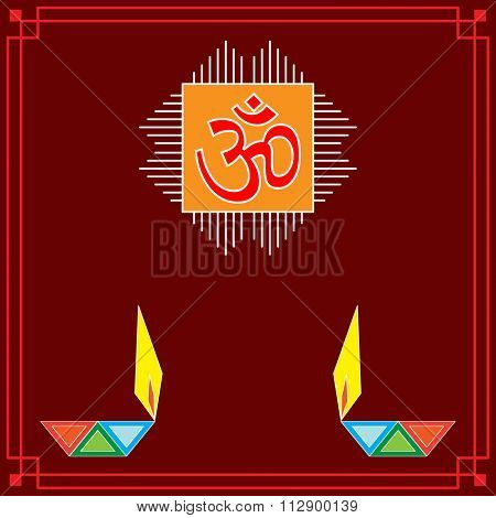 Aum (Om) The Holy Motif Art