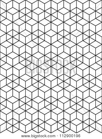 Rhythmic Contrast Textured Endless Pattern With Cubes, Continuous Black And White Geometric Backdrop