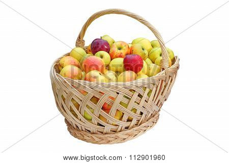 Traditional Basket Full Of Apples