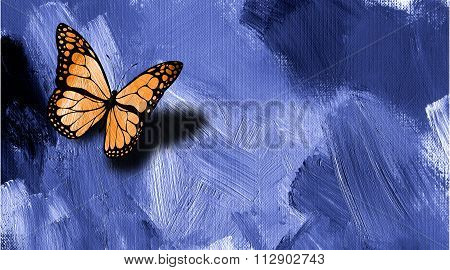 Graphic Butterfly With Texture Background