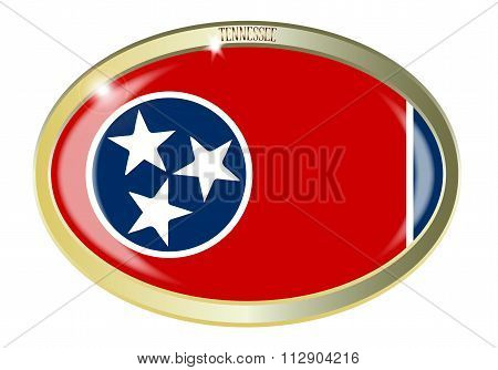 Tennessee State Seal Oval Button