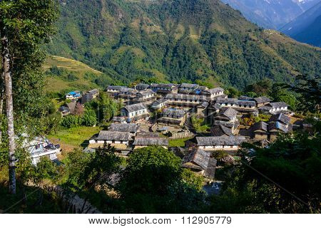 Ghandruk village in the Annapurna region, Nepal
