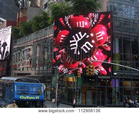 A street scene in NewYork,