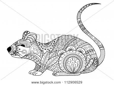Zentangle Mouse
