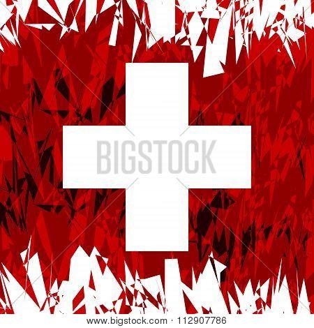 Flag Of Swiss.