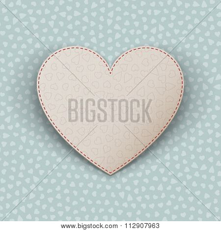 Happy Valentines Day realistic paper Heart Card