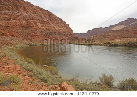 River In A Desert Canyon