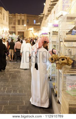 Qatari Man At The Souq Waqif, Doha