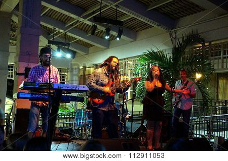 Reggae Band Guidance Band Jams On Stage