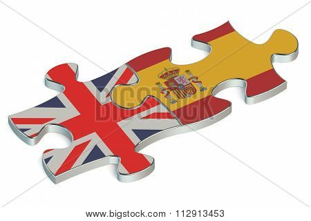 Spain And Great Britain Puzzles From Flags