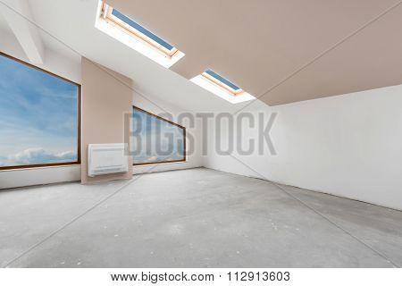 Empty Unfinished Interior  (includes Clipping Path)