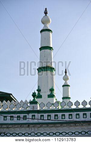 Minaret of India Muslim Mosque in Ipoh, Malaysia