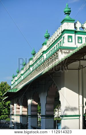 Architectural detail of the India Muslim Mosque in Ipoh, Malaysia
