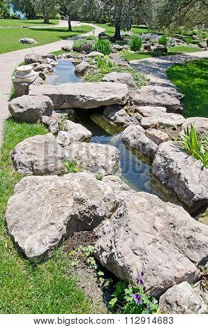 Wild Pond In The Park In Partenit