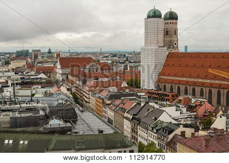 View Of Munchen From The Tower Of The Church St. Peter