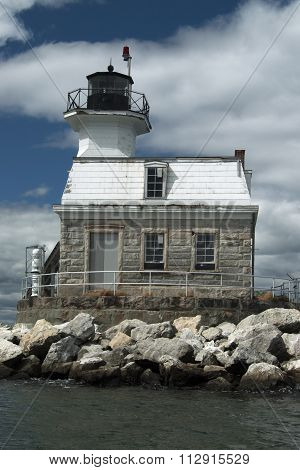 Old Lighthouse Made Of Stone