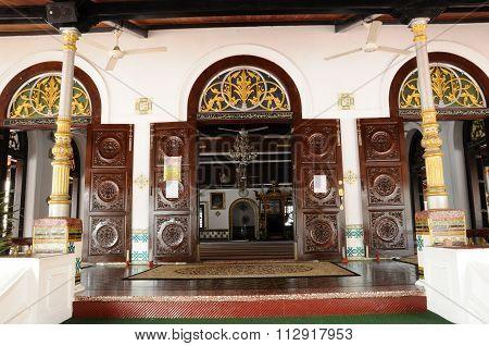 Entrance of Tranquerah Mosque or Masjid Tengkera