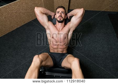 Man On Leg Press Exercise Legs