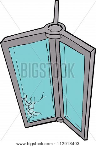 Damaged Revolving Door