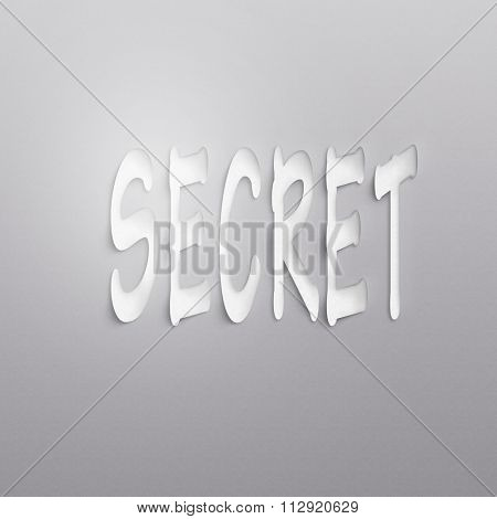 text on the wall or paper, secret