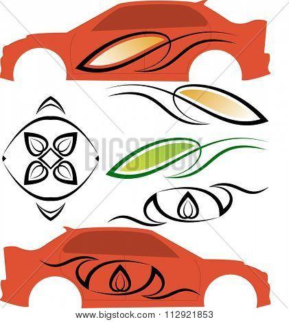 Vehicle Graphics, Stripe : Vinyl Ready Raster Illustration