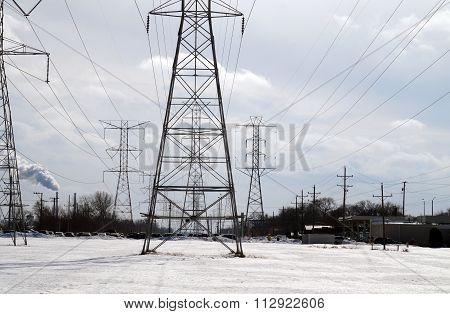 Power Lines in Winter