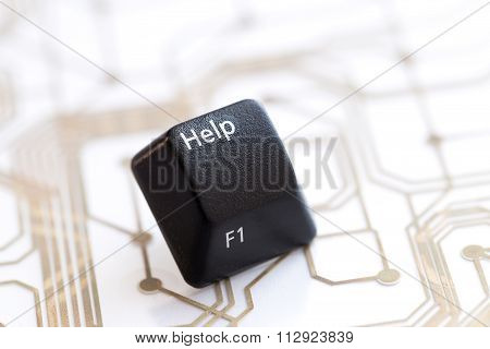 Keyboard Black Button Help