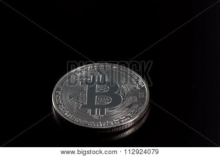 Bitcoin On Black Backround