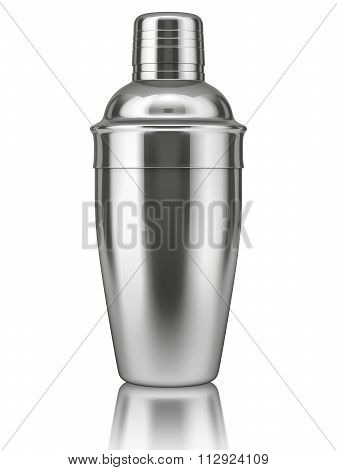 Cocktail shaker on white background