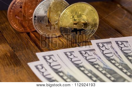 Bitcoins With Dollars