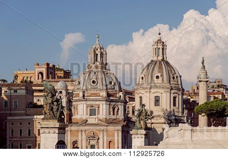 Italy. Rome. Temples And Sculptures