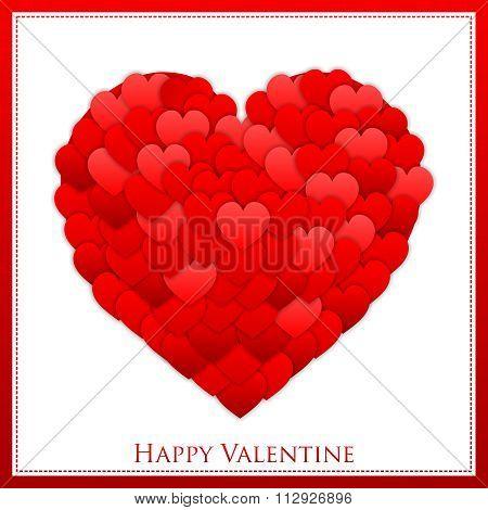 Vector Valentine Lovely Heart Illustration