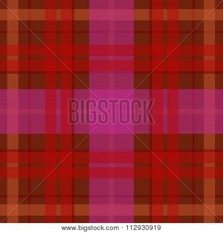 Vector seamless scottish tartan pattern in red pink. British or irish celtic design for textile clot