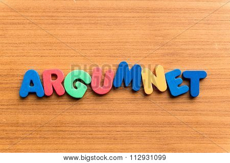 Argument Colorful Word