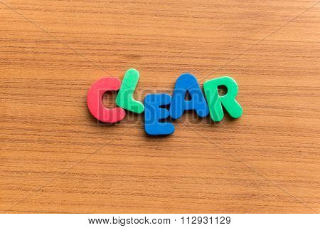 Clear Colorful Word
