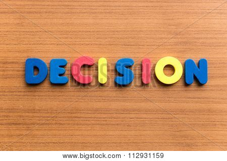 Decision Colorful Word
