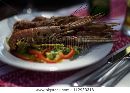 Delicious Prawns With Vegetables
