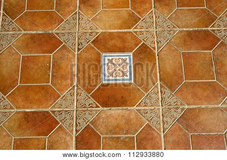 Background With Ornamental Tiles