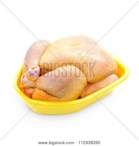 Corn-fed Chicken In Yellow Packaging Tray