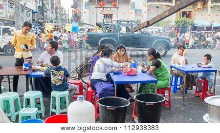 Street market in Yangon