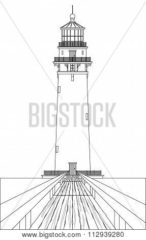 Lighthouse Outline