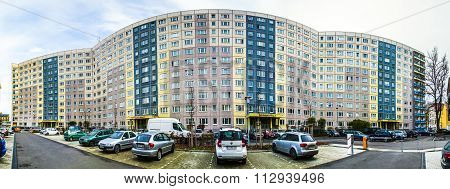 Facade Of Old Socialist Buildings Are Renovated With More Colorful Facades