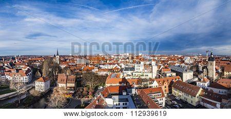 Skyline Of Old Town Of Erfurt, Germany
