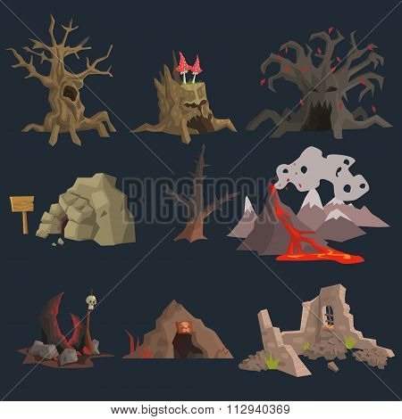 Swamp, Tree and Cave Game Set