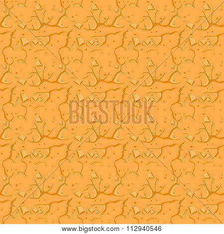Cracked Desert Ground. Vector Background